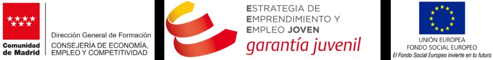 Financiación cursos  de la Comunidad de Madrid